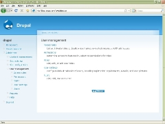 Drupal Admin Page User Management