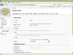 MediaWiki Admin Page User Profile